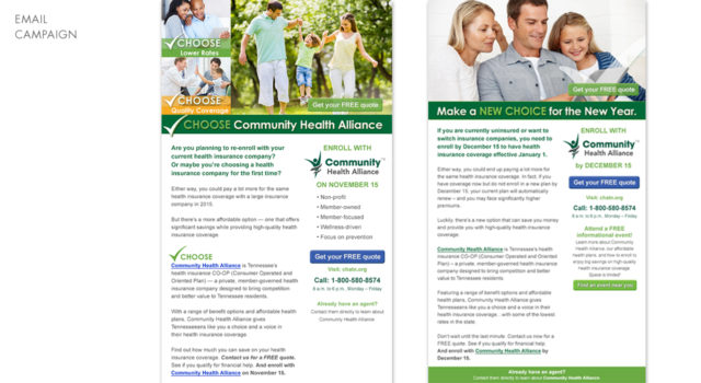 Community Health Alliance – Emails