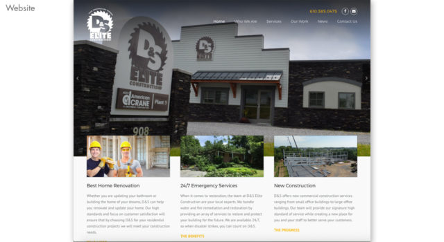 D&S Elite Construction website