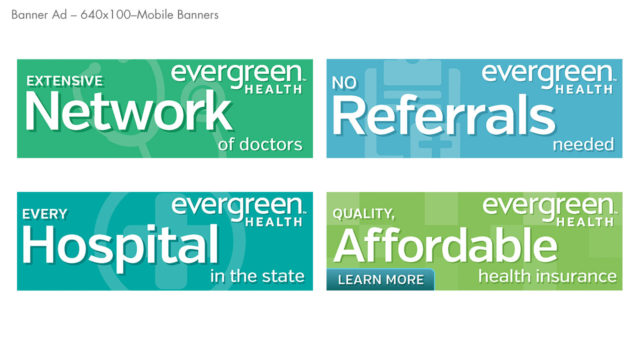 Evergreen Health banner 640 x 100 HTML 5 banner ad