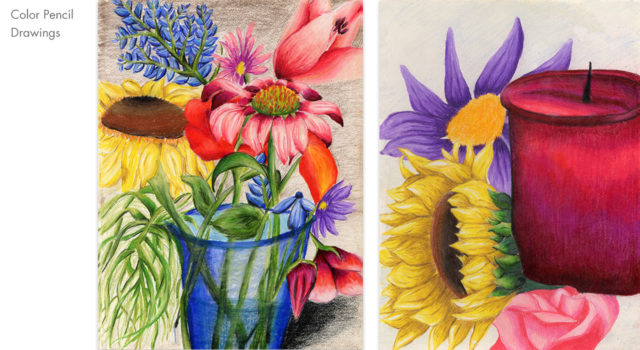 Cheryl McClafferty Flower Drawings